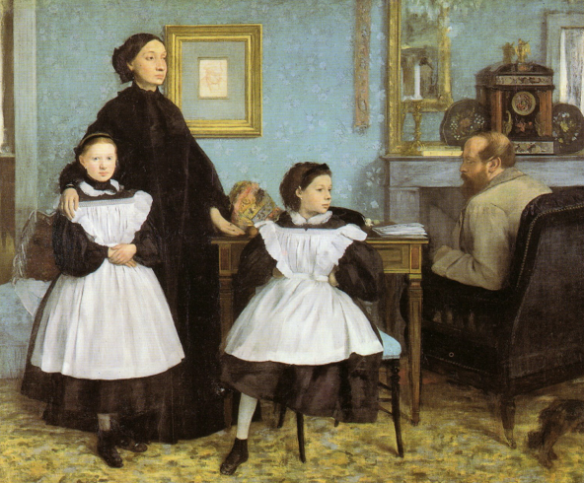 "The French idea of a family.  Edgar Degas's ""La famille Bellili""."
