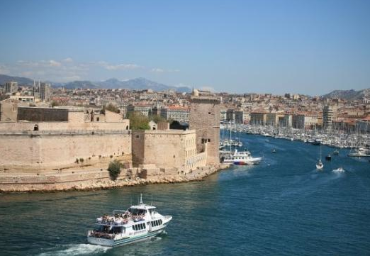 Marseille seen from the old port.
