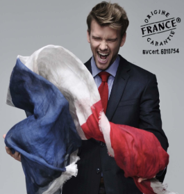 "This guy looks excited about the ""Made in France"" movement."