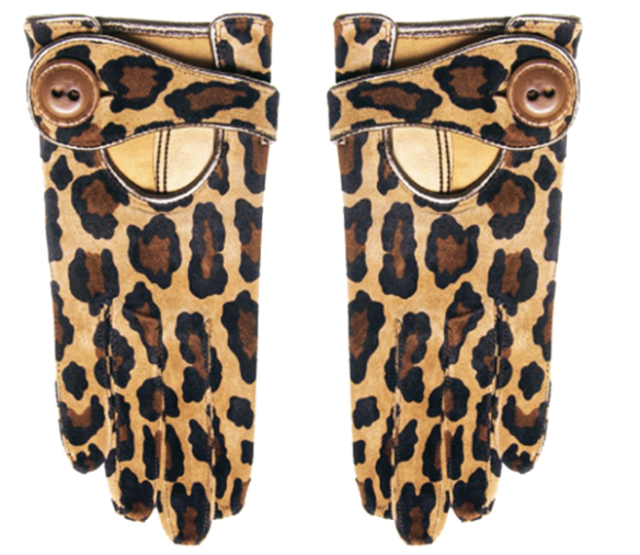 Pony-skin gloves by Fabre.