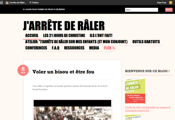 "One French woman's blog dedicated to her mission to break the complaining habit and no longer ""râler""."