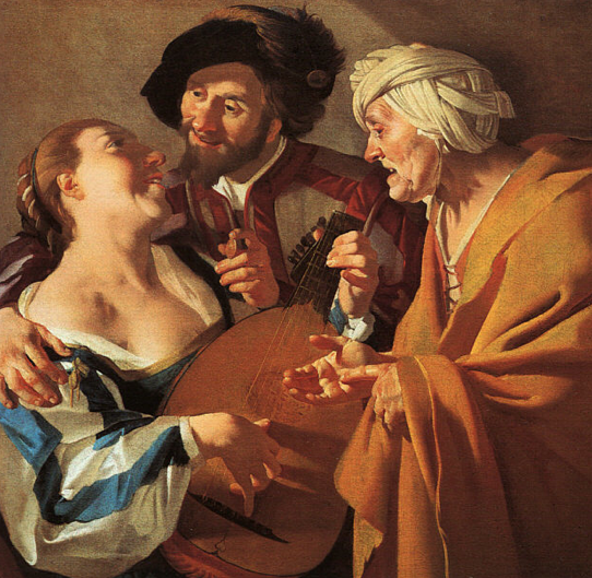 """The Procuress"", by Dutch painter Dirck van Baburen. The freedom to dispose of one's body in the 17th century."