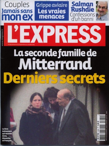 Reports like this one of President François Mitterand's second family--his mistress and their daughter--only emerged years after his death.