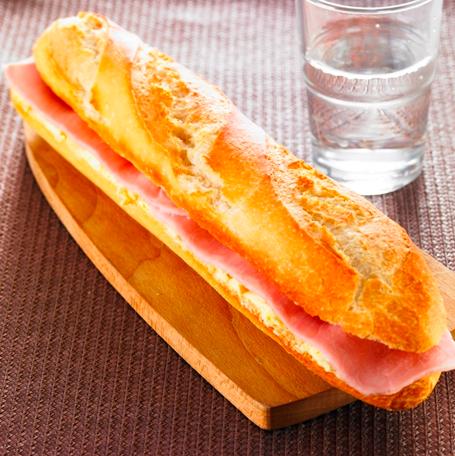 The French ham baguette sandwich or jambon beurre. Important cultural patrimony.