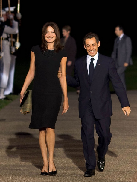 "Carla Bruni Sarkoy and former French preisdent Nicolas Sarkozy enjoy pretending that he is a ""kept"" man."